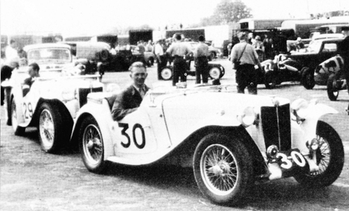Dick Jacobs at Silverstone 1949