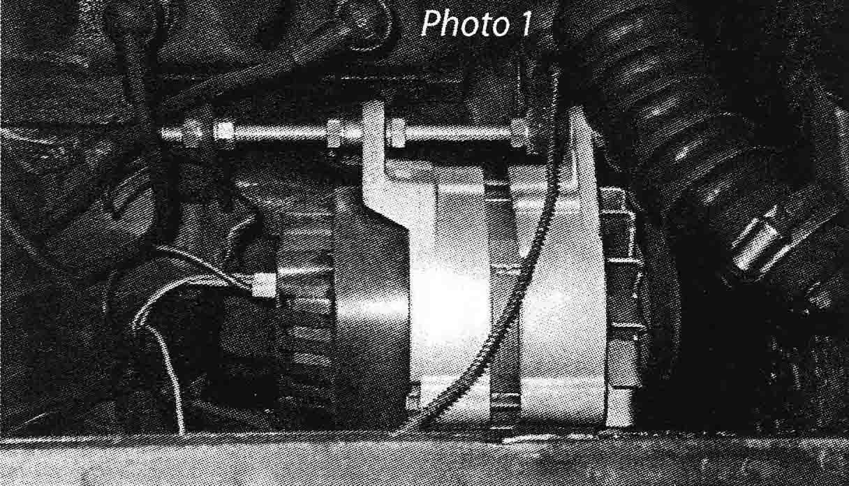 Alternator Conversion For The Mga North American Register Namgar Re Two Accompanying Photographs Show Threaded Rod Installation Photo No 1 And New With Bracket 2